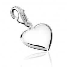 Srebrn obesek - simetrično srce