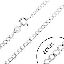Srebrna verižica - gladki obročki, 2,8 mm