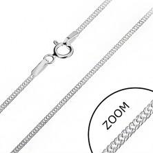 Srebrna verižica - gosto prepleteni obročki, 1,4 mm