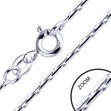 Verižica iz srebra 925 - členi v obliki paličic, 1,3 mm