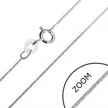 Verižica iz srebra 925 - členi v obliki paličic, 0,5 mm