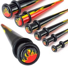 Akrilen UV-razširjevalnik z dvema gumijastima obročkoma in ognjenim vzorcem