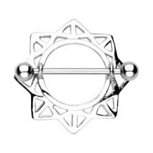 Obroček za bradavičko v obliki sonca z izrezanimi trikotniki – 2 kosa
