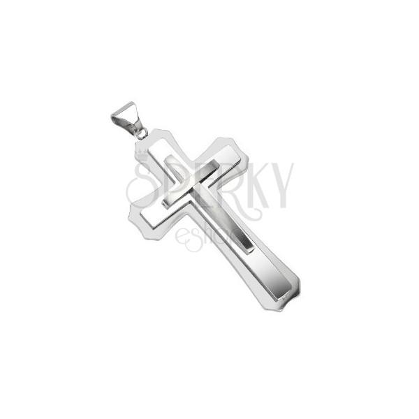 Obesek iz kirurškega jekla - masiven križ