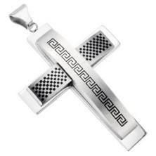Masiven križ - karirast vzorec in grafični simbol