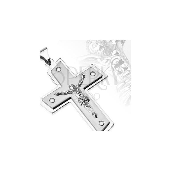 Obesek iz nerjavečega jekla - Kristus na križu