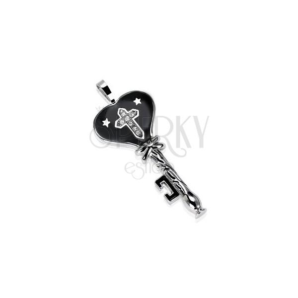 Črn ključ iz nerjavečega jekla z zvezdami