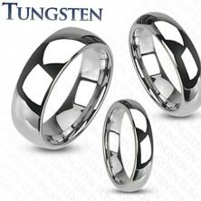 Poročni prstan iz volframa visokega sijaja