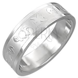 Prstan iz nerjavečega jekla - zodiak