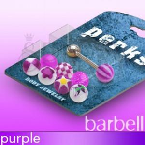 Piercing za jezik s sladkornimi kroglicami - komplet