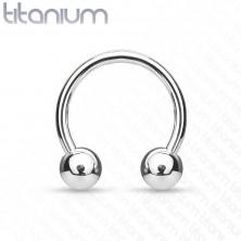 Titanov piercing v obliki konjske podkve s kroglicama