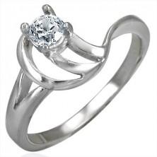 Zaročni prstan s prepletenim obročkom