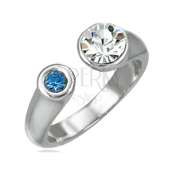 Prekinjen prstan z dvema kamenčkoma
