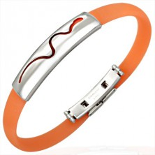 Gumijasta zapestnica - plazeča se kača, oranžna