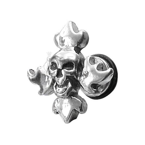 Imitacija piercinga z lobanjo in plameni