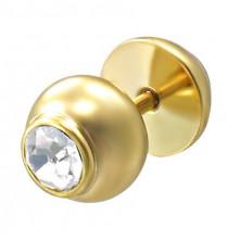 Imitacija piercinga zlate barve z okrasnim kamnom