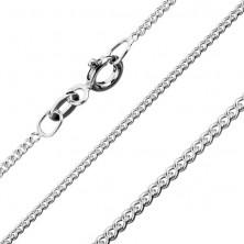 Verižica iz srebra čistine 925 z okroglimi zasukanimi členi, 1,4 mm