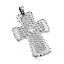 Obesek iz kirurškega jekla - velik križ