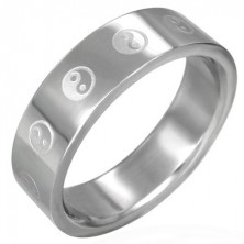 Jin - jang prstan iz jekla