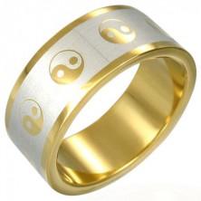 Pozlačen prstan jin-jang