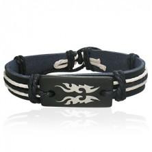 Usnjena zapestnica črne barve - plemenski simbol