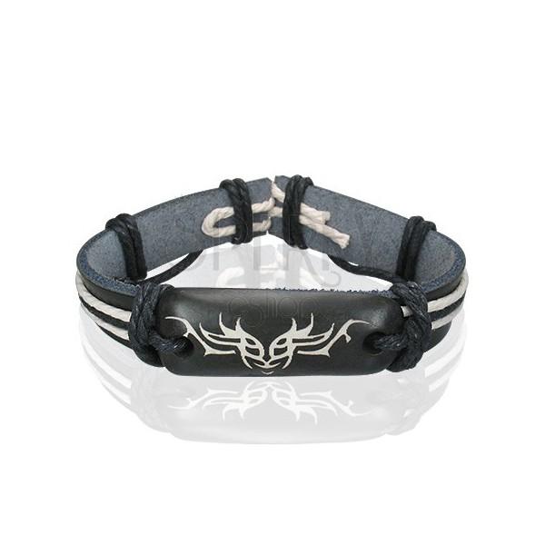 Črna usnjena zapestnica - plemenski simbol