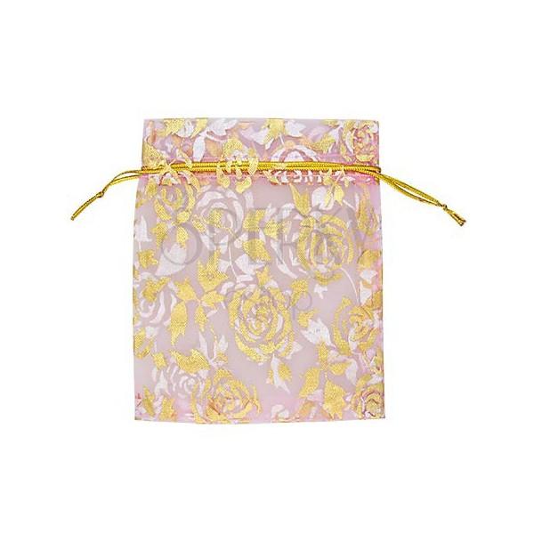 Darilna vrečka - tekstilna vrečka, roza