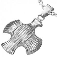 Obesek iz nerjavečega jekla - orel z razprtimi krili