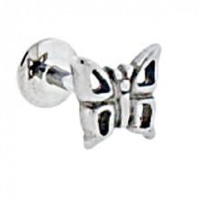 Podustnični piercing v obliki metulja, izrezana krila