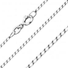 Verižica iz srebra 925, gladki ovalni obročki, 1,3 mm