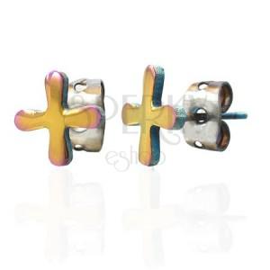 Barvni jekleni uhani s simbolom TABONO