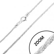 Verižica iz srebra 925, kačji vzorec – ravni in zaviti deli, 1,5 mm
