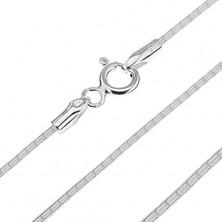 Sijoča verižica iz srebra 925 s kačjim vzorcem, drobne zareze, 1,4 mm