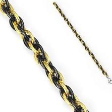 Jeklena zapestnica - prepletena dvobarvna veriga