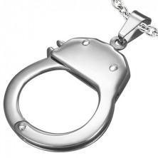 Jeklen obesek - policijske lisice