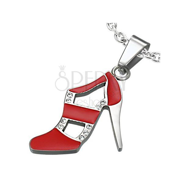 Obesek iz jekla rdeč plesni čevelj