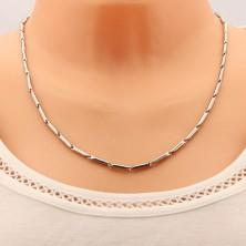Sijoča jeklena verižica, podaljšani valjčki srebrne barve, 3 mm