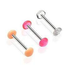 Nadomestni piercing za jezik - barvna polkrogla