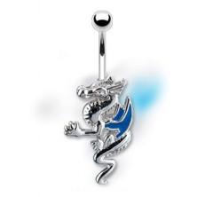Uhan za popek - zmaj z modrimi krili