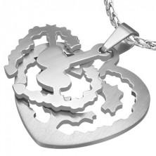 Obesek ploščica v obliki srca