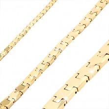 Zlata zapestnica iz volframa, sijoči gladki členi Y, magnetne kroglice