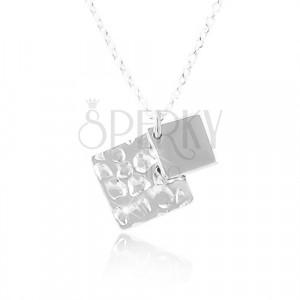 Ogrlica iz srebra 925, romba, verižica iz ovalnih členov