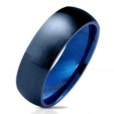 Jeklen obroček temno modre barve, mat zaobljena površina, 6 mm