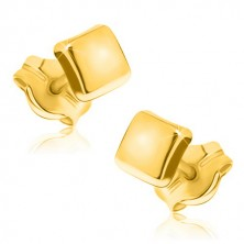 Uhani iz 9-k zlata – preprost sijoč kvadrat