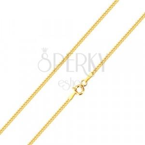 Sijoča verižica iz 14-k rumenega zlata –  linija poševno povezanih členov, 500 mm