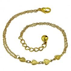 Verižica zlate barve iz nerjavečega jekla - vrsta src, zvonček