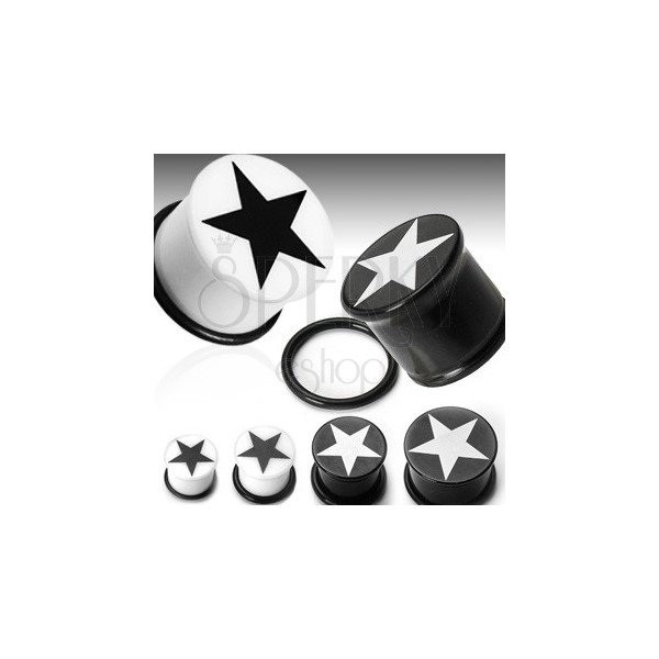 Vstavek za uho s simbolom zvezde