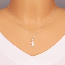 Obesek iz srebra 925 - dekle s krili in klasom pšenice, zodiakalno znamenje DEVICA