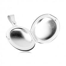 Obesek iz srebra 925 – sijoč okrogel medaljon