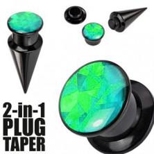 Razširjevalnik in vstavek 2 v 1 - črne in zelene barve